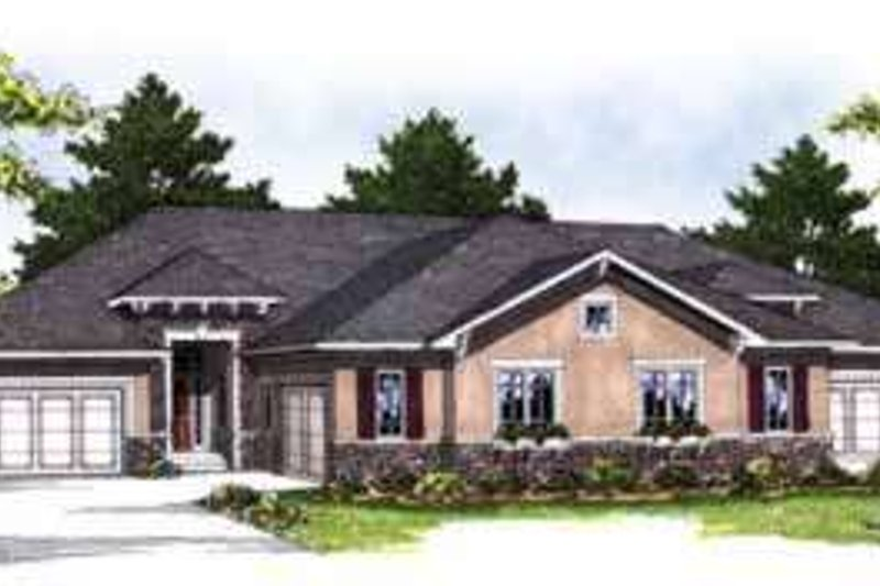 Traditional Exterior - Front Elevation Plan #70-823