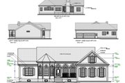 Country Style House Plan - 3 Beds 2.5 Baths 1982 Sq/Ft Plan #56-151 Exterior - Rear Elevation
