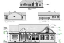 Dream House Plan - Country Exterior - Rear Elevation Plan #56-151