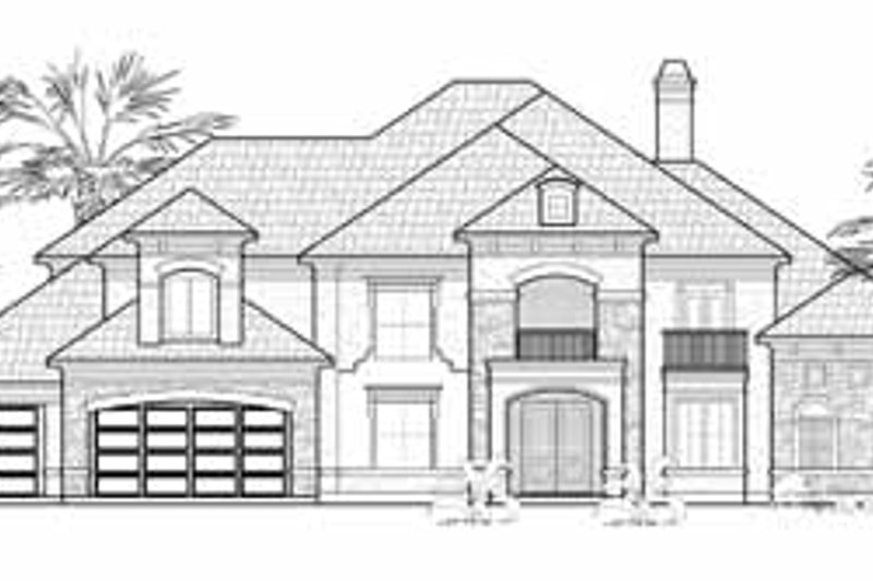 Mediterranean Exterior - Front Elevation Plan #61-174