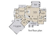 Farmhouse Style House Plan - 3 Beds 2.5 Baths 2504 Sq/Ft Plan #120-255 Floor Plan - Main Floor Plan