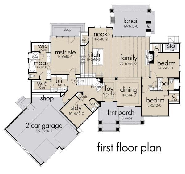 House Plan Design - Farmhouse Floor Plan - Main Floor Plan #120-255