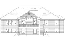 House Plan Design - Traditional Exterior - Rear Elevation Plan #5-252