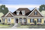 Traditional Style House Plan - 4 Beds 2.5 Baths 2591 Sq/Ft Plan #46-437 Exterior - Front Elevation