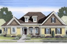 Dream House Plan - Traditional Exterior - Front Elevation Plan #46-437
