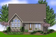 Rear View - 2200 square foot Cottage plan