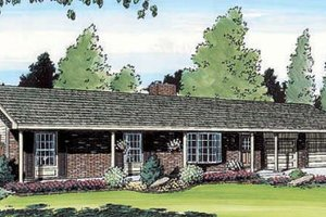 Traditional Exterior - Front Elevation Plan #312-403