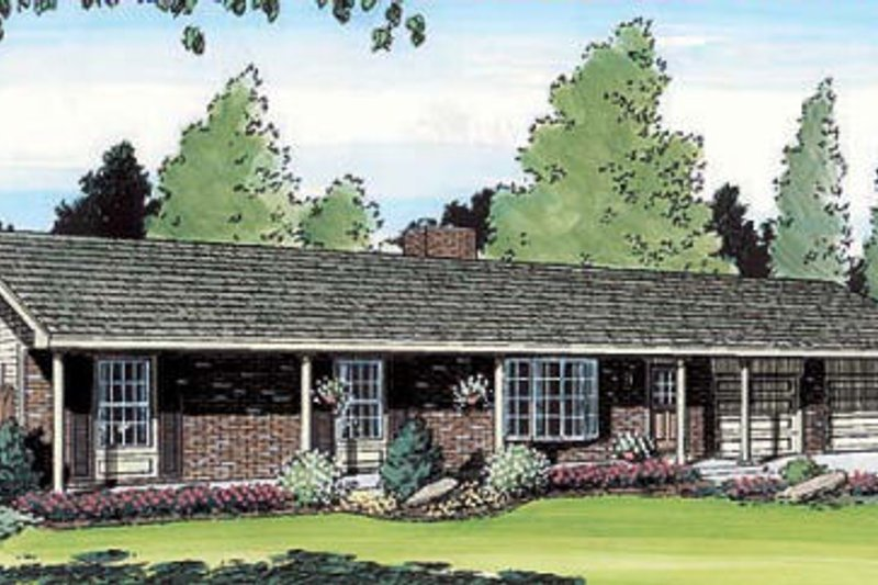 Traditional Style House Plan - 4 Beds 2 Baths 1901 Sq/Ft Plan #312-403