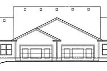 Home Plan Design - Traditional Exterior - Rear Elevation Plan #20-386