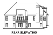 Home Plan - Traditional Exterior - Rear Elevation Plan #419-105