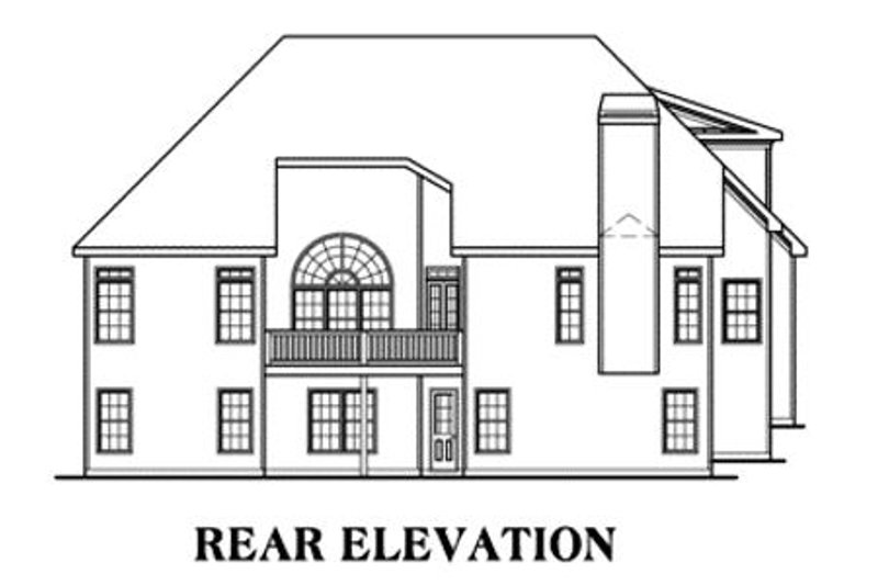 Traditional Exterior - Rear Elevation Plan #419-105 - Houseplans.com