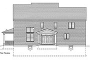 Traditional Style House Plan - 4 Beds 2.5 Baths 3073 Sq/Ft Plan #46-848 Exterior - Rear Elevation