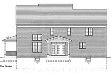 Home Plan - Traditional Exterior - Rear Elevation Plan #46-848