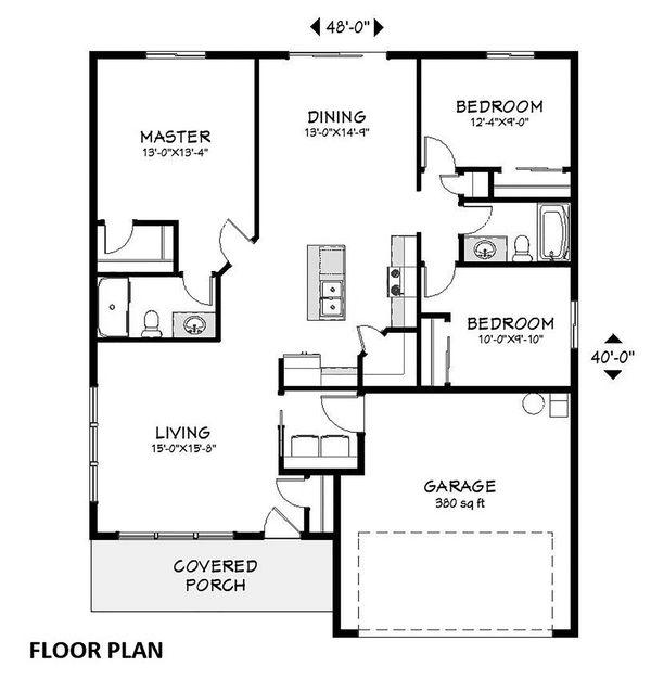 Ranch Floor Plan - Main Floor Plan #943-51