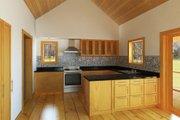 Cabin Style House Plan - 1 Beds 1 Baths 704 Sq/Ft Plan #497-14 Interior - Kitchen