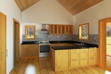 Architectural House Design - Cabin Interior - Kitchen Plan #497-14