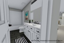 House Design - Optional Finished Basement Bath