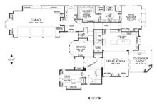 European Floor Plan - Main Floor Plan Plan #48-625
