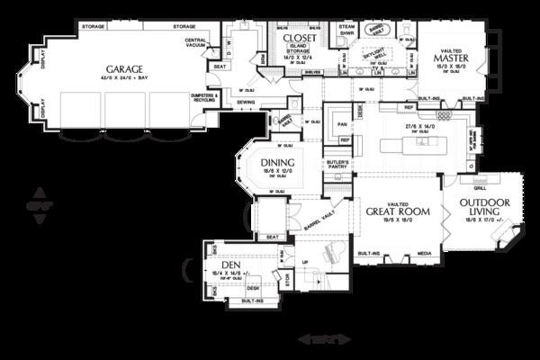 Home Plan - European Floor Plan - Main Floor Plan #48-625