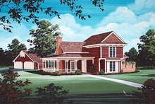 Home Plan - Victorian Exterior - Other Elevation Plan #45-328