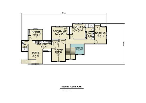 House Blueprint - Farmhouse Floor Plan - Upper Floor Plan #1070-133