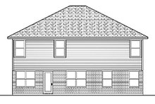 House Design - Traditional Exterior - Rear Elevation Plan #84-405