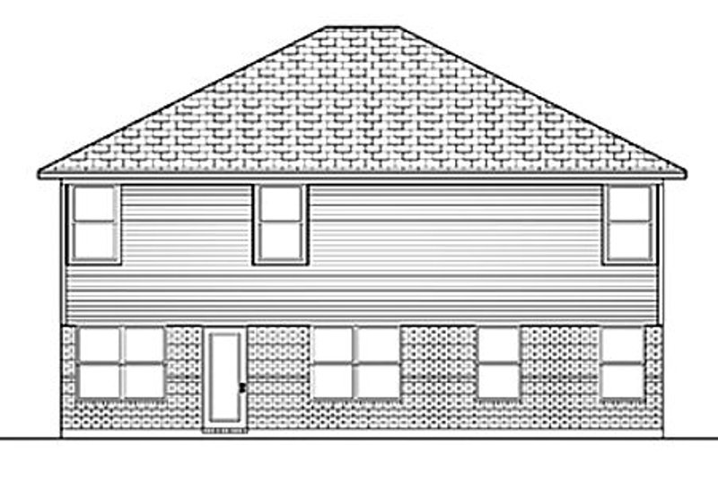 Traditional Exterior - Rear Elevation Plan #84-405 - Houseplans.com