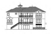 Mediterranean Style House Plan - 5 Beds 4.5 Baths 6162 Sq/Ft Plan #27-397 Exterior - Rear Elevation