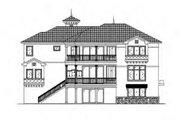 Mediterranean Style House Plan - 5 Beds 4.5 Baths 6162 Sq/Ft Plan #27-397 Exterior - Rear Elevation
