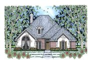 Traditional Style House Plan - 4 Beds 2 Baths 1932 Sq/Ft Plan #42-386 Exterior - Front Elevation