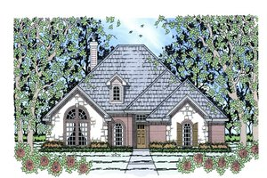 Architectural House Design - Traditional Exterior - Front Elevation Plan #42-386