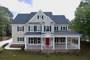 Farmhouse Style House Plan - 4 Beds 4.5 Baths 4020 Sq/Ft Plan #437-92 Exterior - Front Elevation