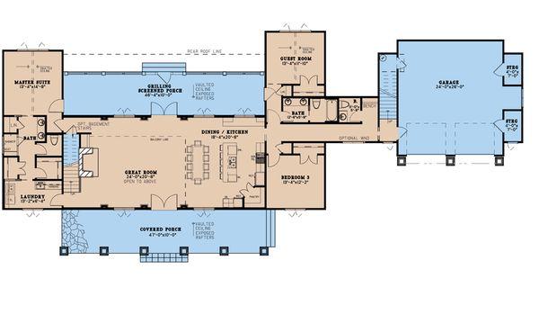 Dream House Plan - Country Floor Plan - Main Floor Plan #923-199