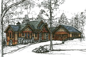 Craftsman Exterior - Front Elevation Plan #921-6