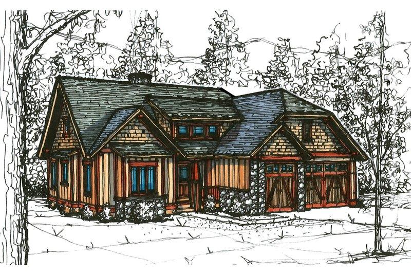 Craftsman Style House Plan - 3 Beds 2.5 Baths 1848 Sq/Ft Plan #921-19