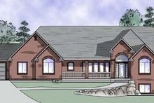 Home Plan - Traditional Exterior - Front Elevation Plan #5-164