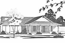 Dream House Plan - Ranch Exterior - Front Elevation Plan #36-358