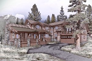 Craftsman Exterior - Front Elevation Plan #899-2