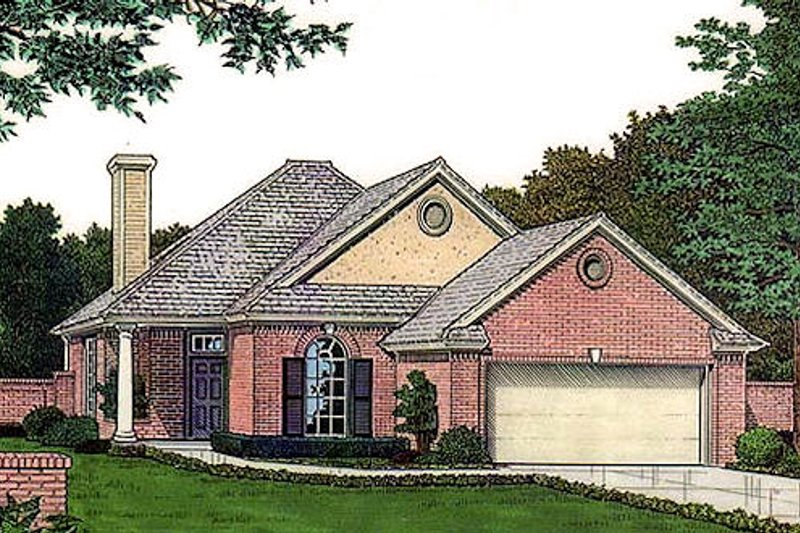 Traditional Exterior - Front Elevation Plan #310-896