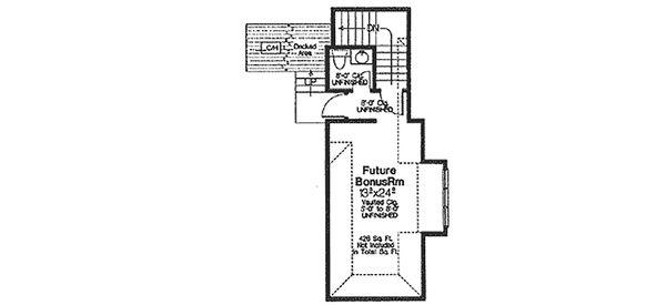 European Floor Plan - Upper Floor Plan Plan #310-325
