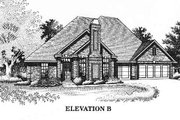 Traditional Style House Plan - 4 Beds 2.5 Baths 2091 Sq/Ft Plan #310-786 Exterior - Other Elevation