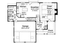 Craftsman Floor Plan - Main Floor Plan Plan #46-470