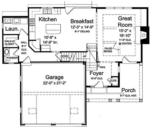 Craftsman Floor Plan - Main Floor Plan #46-470