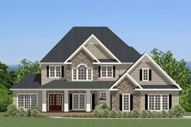 Traditional Exterior - Front Elevation Plan #898-30 - Houseplans.com