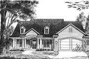 Traditional Style House Plan - 3 Beds 2 Baths 1814 Sq/Ft Plan #70-212 Exterior - Front Elevation