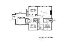Country Floor Plan - Upper Floor Plan Plan #929-36