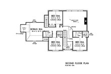 Country Floor Plan - Upper Floor Plan Plan #929-36