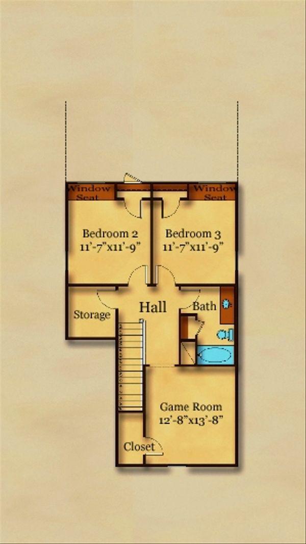 Cottage Floor Plan - Upper Floor Plan Plan #442-3