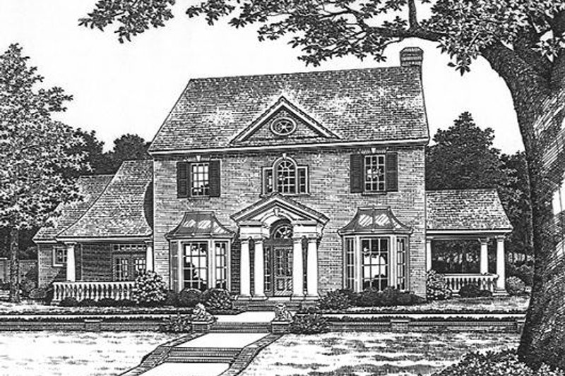 Colonial Style House Plan - 4 Beds 3.5 Baths 3010 Sq/Ft Plan #310-902