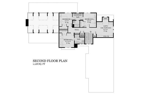 House Plan Design - Farmhouse Floor Plan - Upper Floor Plan #51-1145